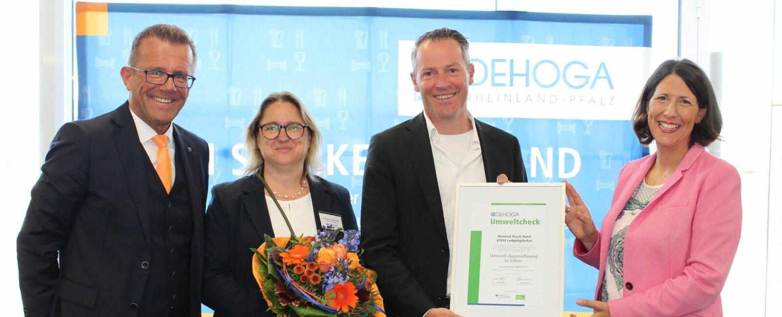 Auszeichnung für umweltbewusstes und nachhaltiges Handeln